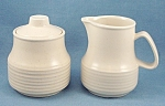 Click here to enlarge image and see more about item TE2447: Homer Laughlin � 1979 Beige Creamer & Sugar Bowl Set