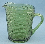 Click to view larger image of Anchor Hocking � Soreno � Creamer / Cream Pitcher � 1960�s Avocado (Image1)