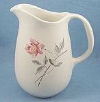 Click to view larger image of Universal China  - Ballerina � Pink Rose � Milk / Juice Pitcher � 32 Oz. (Image1)