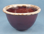 Click to view larger image of  Pottery � Oven Proof -  USA � Brown Drip Bowl (Image1)
