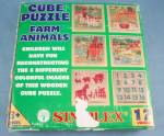 "Click to view larger image of 17 Piece Wooden Cube Puzzle ""Simplex"" Farm Animals (Image3)"