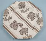 Click here to enlarge image and see more about item TE3457a-e: J & G Meakin -  Lotus –  Liberty Shape – Plate, B&B