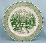 Click to view larger image of Knowles China – Country Life, Currier & Ives Print – Green	 (Image1)