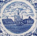 Click to view larger image of Staffordshire Ware - Souvenir/ Collector Plate- Jackson Square, New Orleans, Louisiana (Image4)