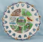 Click to view larger image of Milk Glass – State Of Virginia Plate	- MIJ	 (Image1)