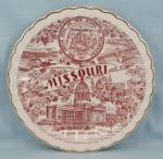 Click to view larger image of  Missouri – The Show Me State - Collector/ Souvenir Plate (Image1)