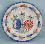 Click to view larger image of 2  Quimper / Hand Painted / Floral Plates (Image3)