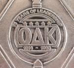 Click to view larger image of 1989 OAK – Pewter Plate - Wilton Pewter – Mount Joy, PA. (Image6)
