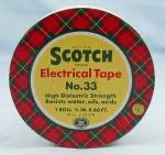 Click here to enlarge image and see more about item TE4636: Tin – Scotch Electrical Tape, With  Pat. No's, No.33