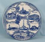 Click to view larger image of Staffordshire / Adams Potteries  - Souvenir/ Collector Plate � Springfield, ILL (Image1)