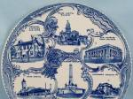 Click to view larger image of Staffordshire / Adams Potteries  - Souvenir/ Collector Plate – Springfield, ILL (Image3)