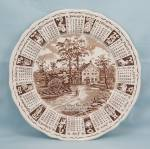 Click here to enlarge image and see more about item TE6346: 1971 Alfred Meakin Calendar Plate