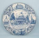Click here to enlarge image and see more about item TE7203: Adams, England, Collector Plate, Boston, Mass.