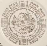 Click to view larger image of T S & T - 1959 Calendar Plate � Windmill, Gold Filigree (Image3)