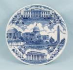 Click here to enlarge image and see more about item TE9147: Staffordshire Ware - Souvenir/ Collector Plate, Washington D.C.