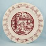 Click here to enlarge image and see more about item TE9295: Sugar Maple Festival- Bellbrook, Ohio – Commemorative Plate –1988