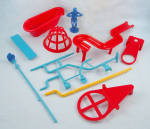 Click here to enlarge image and see more about item TE9593: Mouse Trap Game, Ideal, 1984, Replacement Parts Lot 2
