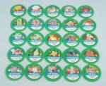 Pokémon Master Trainer Game, Milton Bradley, 1999, 25 Replacement Green #4 Chips