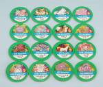 Click here to enlarge image and see more about item TE9601: Pokémon Master Trainer Game, Milton Bradley, 1999, 16 Replacement Green #5 Chips