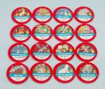 Pokémon Master Trainer Game, Milton Bradley, 1999, 16 Replacement Red #6 Chips