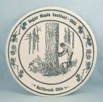 Sugar Maple Festival- Bellbrook, Ohio – Commemorative Plate – 1983