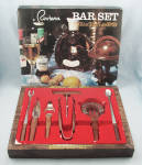 Riviera Bar Set – Original Box, Vintage, Never Used 7 Piece Set, Rosewood Handles