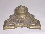 Click here to enlarge image and see more about item TEink19: Cast Brass Classical Inkwell