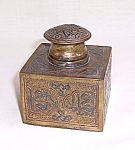 Click to view larger image of Cast Brass Enameled Inkwell (Image1)