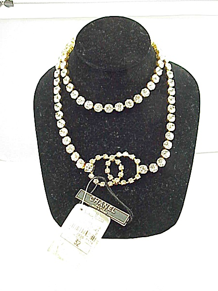 Chanel 1995 Brilliant Rhinestone Belt Or Necklace - New With Tag