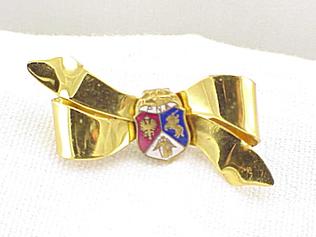 Vintage Polish National Alliance Sterling Silver And Enamel Brooch
