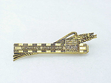 Vintage Jewish Women's American Ort Aron Syngalowski Center Brooch Pin