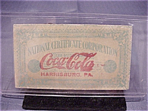 Vintage Coca-cola Employee Award Voucher Dated 1924