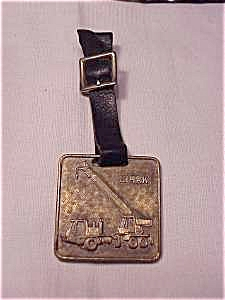 VINTAGE CLARK ROAD MACHINERY OF PENNSYLVANIA WATCH FOB AND STRAP (Image1)