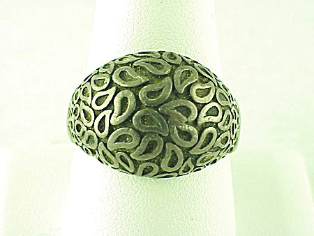 VINTAGE ARTS & CRAFT HANDMADE STERLING SILVER RING SIGNED GC (Image1)