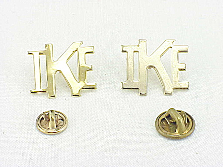 VINTAGE PAIR OF IKE DWIGHT EISENHOWER POLITICAL LAPEL PINS (Image1)