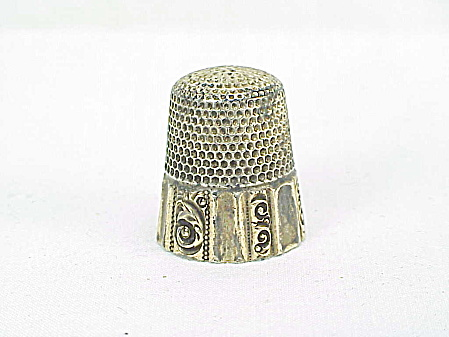 Antique Ketcham Mcdougall Sterling Silver Vermeil Thimble