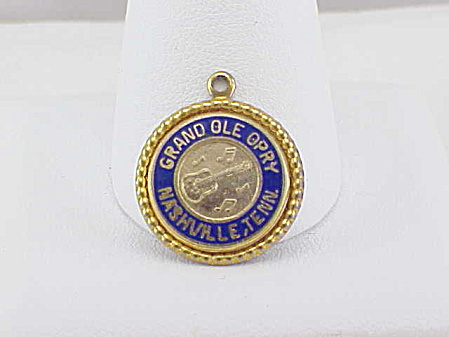 Grand Ole Opry Nashville, Tennessee, Enamel Souvenir Charm Or Pendant