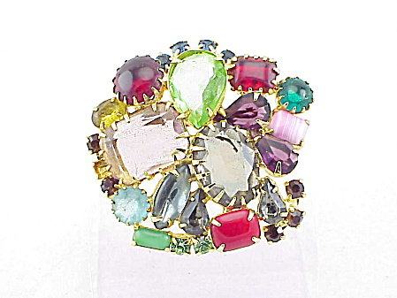 Vintage Juliana Large Fruit Salad Rhinestone Brooch