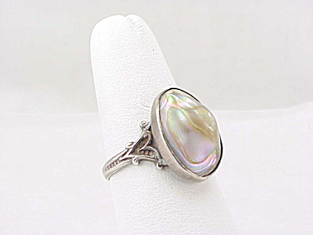 Vintage Art Deco Sterling Silver Blister Pearl Ring - Birth Of A Pearl