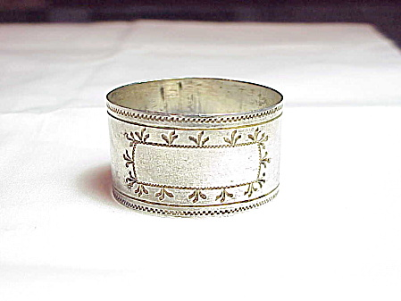 Single Mexican Sterling Silver Napkin Ring