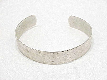 Hand Made Sterling Silver Cuff Bracelet Signed L. F.