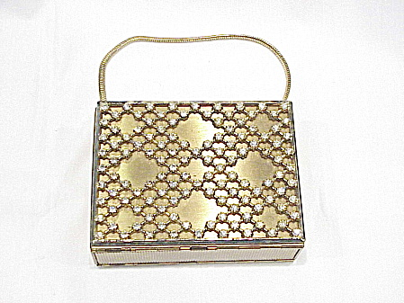Vintage Zell's Fifth Avenue Two-sided Compact Rhinestone Purse