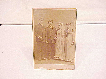 VICTORIAN COUPLE WEDDING CABINET PHOTOGRAPH - HILL STUDIO, ELIZABETH, NJ (Image1)