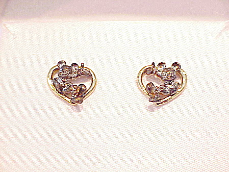 Disney Sterling Silver Mickey Mouse Pierced Earrings