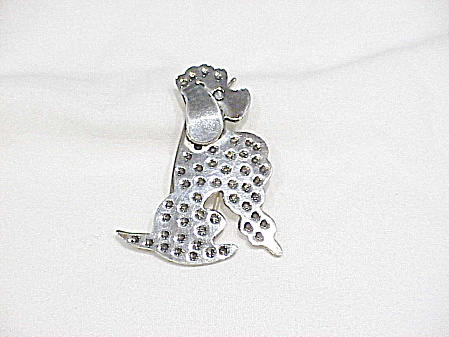 TAXCO MEXICAN STERLING SILVER POODLE DOG HAIR BARETTE ORNAMENT (Image1)