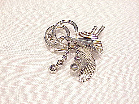 Vintage Carl-art Sterling Silver Abstract Design Brooch