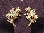 Click here to enlarge image and see more about item 3005: HATTIE CARNEGIE VINTAGE RHINESTONE TREMBLER CLIP EARRINGS - BOOK PIECE