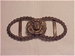 ANTIQUE VICTORIAN ART NOUVEAU WOMAN SASH BELT BUCKLE