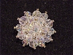 VINTAGE COSTUME JEWELRY - AURORA BOREALIS CRYSTAL AND RHINESTONE BROOCH