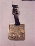Click here to enlarge image and see more about item 3035: VINTAGE CLARK ROAD MACHINERY OF PENNSYLVANIA WATCH FOB AND STRAP
